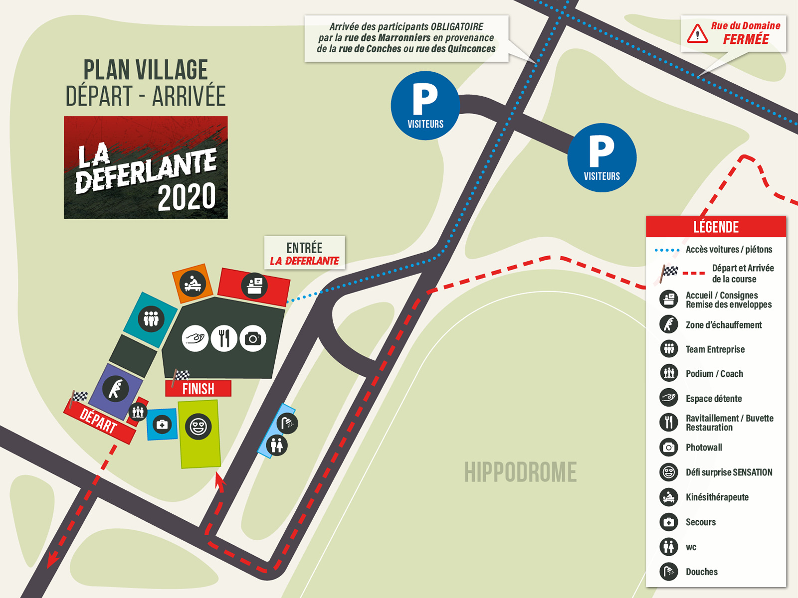 Plan du Village - La Déferlante Evreux
